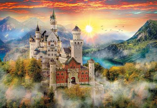 Neuschwanstein Castle (CLE 32559), a 2000 piece jigsaw puzzle by Clementoni. Click to view larger image.