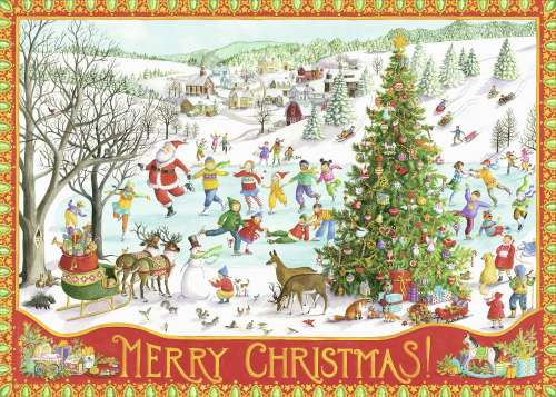Winter Wonderland (RB19734-7), a 1000 piece jigsaw puzzle by Ravensburger. Click to view larger image.