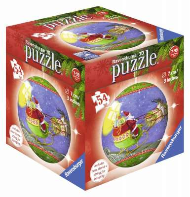 3D Puzzle Christmas Decorations (Set 1) (RB79959-SET), a 54 piece jigsaw puzzle by Ravensburger. Click to view larger image.