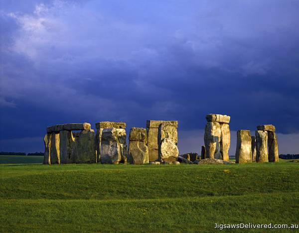 Stonehenge, England (CAA107803), a 1000 piece jigsaw puzzle by Crown and Andrews.