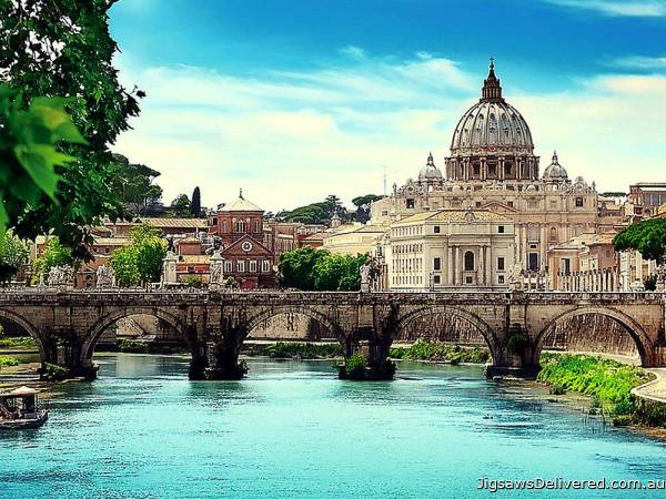 Holy Angel Bridge, Rome (TRE10449), a 1000 piece jigsaw puzzle by Trefl.