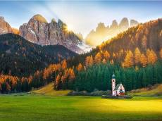 Church in the Dolomites. Click to view this product