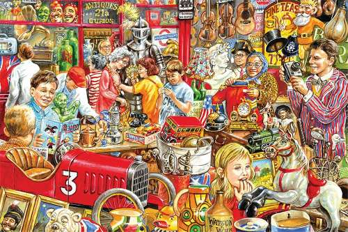 Hidden Gems (JUM11172), a 1500 piece jigsaw puzzle by Jumbo. Click to view larger image.