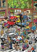 Scooter Scramble (HOL099054), a 1000 piece Holdson jigsaw puzzle.