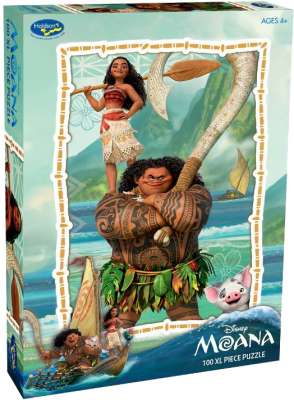 Disney Moana (Large Pieces) (HOL098118), a 100 piece jigsaw puzzle by Holdson. Click to view larger image.