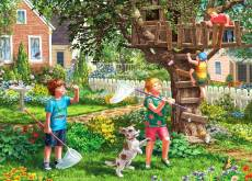 Treehouse (Large Pieces) (HOL098804), a 500 piece Holdson jigsaw puzzle.
