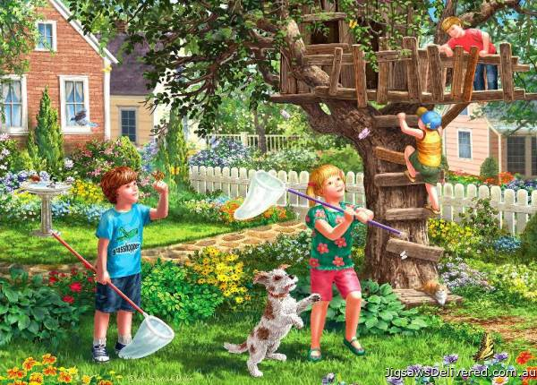 Treehouse (Large Pieces) (HOL098804), a 500 piece jigsaw puzzle by Holdson.