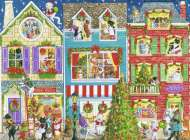 Christmas on Pet Street (RB19735-4), a 1000 piece Ravensburger jigsaw puzzle.