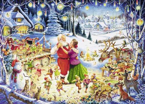 Ultimate Christmas Party (RB19765-1), a 1000 piece jigsaw puzzle by Ravensburger. Click to view larger image.
