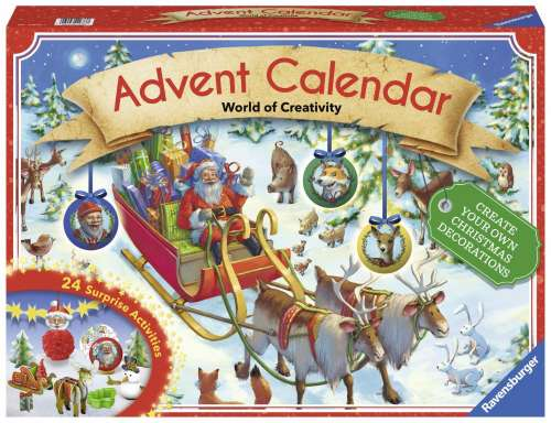 Ravensburger Advent Calendar (RB11673-7), a 1000 piece jigsaw puzzle by Ravensburger. Click to view larger image.
