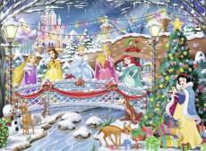 Disney Princess Christmas (Glitter Highlights) (RB10794-0), a 100 piece Ravensburger jigsaw puzzle.