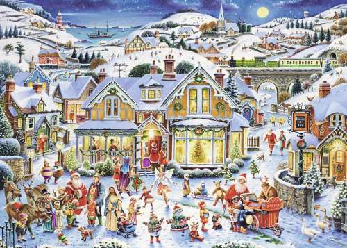 Which One's Santa (Limited Edition) (RB19773-6), a 1000 piece jigsaw puzzle by Ravensburger. Click to view larger image.
