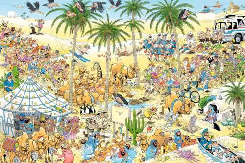 The Oasis (JUM19059), a 1500 piece jigsaw puzzle by Jumbo. Click to view larger image.