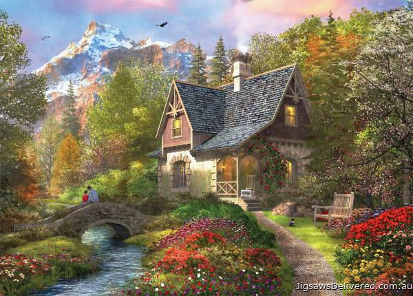 Mountain Retreat (HOL770038), a 1000 piece jigsaw puzzle by Holdson.