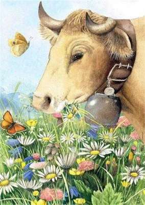 Cow (HEY29318), a 1000 piece jigsaw puzzle by HEYE. Click to view larger image.