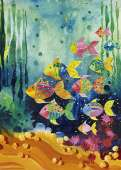 Shoal Fish (Lovely Times) (HEY29779), a 1000 piece HEYE jigsaw puzzle.