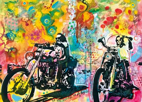 Easy Rider (HEY29814), a 1000 piece jigsaw puzzle by HEYE. Click to view larger image.