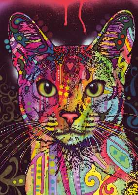 Abyssinian Cat (HEY29810), a 2000 piece jigsaw puzzle by HEYE. Click to view larger image.