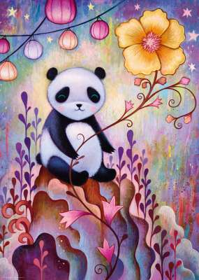 Panda Naps (HEY29803), a 1000 piece jigsaw puzzle by HEYE. Click to view larger image.