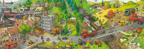 Busy Day (HEY29835), a 1000 piece jigsaw puzzle by HEYE. Click to view larger image.