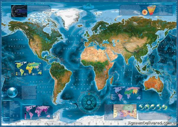 Satellite Map (HEY29797), a 2000 piece jigsaw puzzle by HEYE.