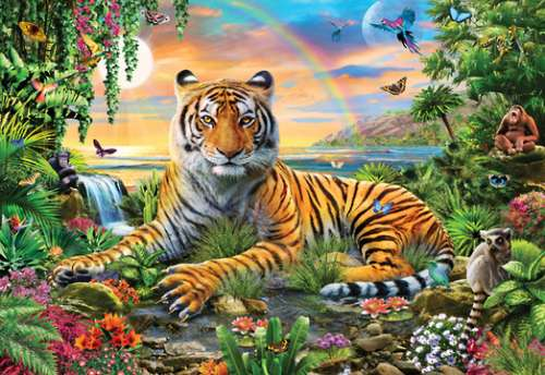 King of the Jungle (HOL770083), a 300 piece jigsaw puzzle by Holdson. Click to view larger image.