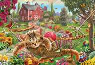 Cat on the Farm (HOL770076), a 300 piece Holdson jigsaw puzzle.