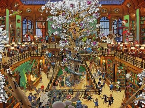Library (HEY29840), a 1500 piece jigsaw puzzle by HEYE. Click to view larger image.