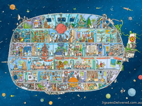 Spaceship (HEY29841), a 1500 piece jigsaw puzzle by HEYE.