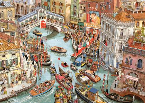 O Sole Mio (HEY29843), a 2000 piece jigsaw puzzle by HEYE. Click to view larger image.
