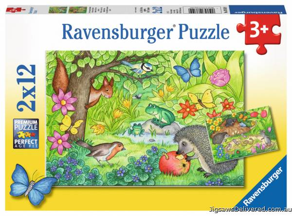Animals in Our Garden (RB07610-9), a 12 piece jigsaw puzzle by Ravensburger.