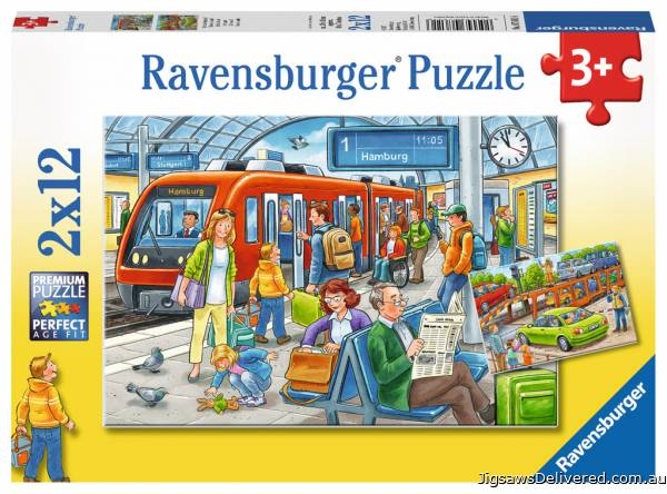 All Aboard! (RB07611-6), a 12 piece jigsaw puzzle by Ravensburger.