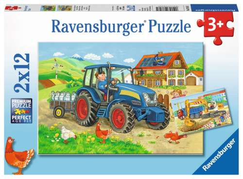 Hard at Work (RB07616-1), a 12 piece jigsaw puzzle by Ravensburger. Click to view larger image.