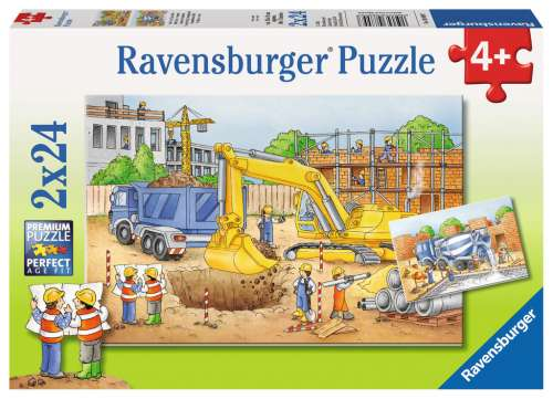 Construction Site (RB08899-7), a 24 piece jigsaw puzzle by Ravensburger. Click to view larger image.
