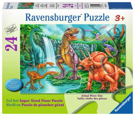 Dino Falls (RB05541-8), a 24 piece jigsaw puzzle by Ravensburger. Click to view larger image.
