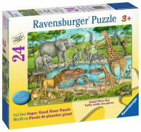 Watering Hole Delight (RB05542-5), a 24 piece Ravensburger jigsaw puzzle.