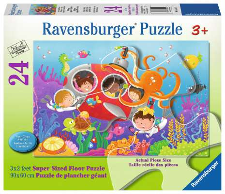 Deep Diving Friends (RB05544-9), a 24 piece jigsaw puzzle by Ravensburger. Click to view larger image.