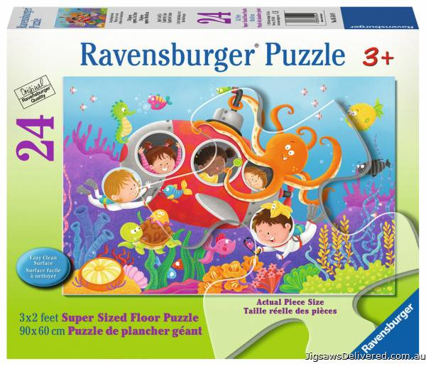 Deep Diving Friends (RB05544-9), a 24 piece jigsaw puzzle by Ravensburger.