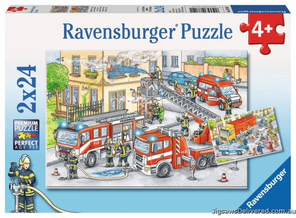 Heroes in Action (RB07814-1), a 24 piece jigsaw puzzle by Ravensburger.