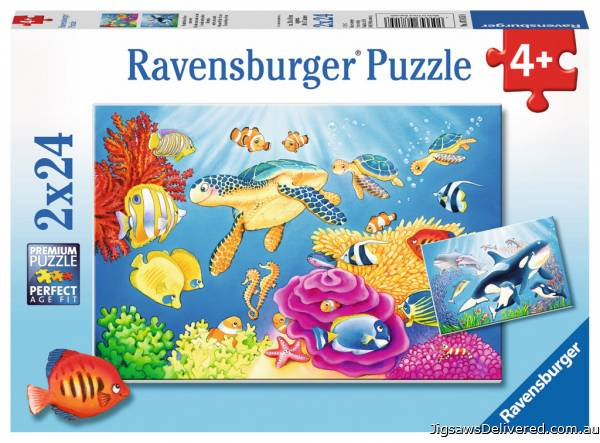 Colorful Underwater World (RB07815-8), a 24 piece jigsaw puzzle by Ravensburger.