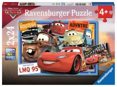 Disney Cars (Twin pack) (RB07819-6), a 24 piece Ravensburger jigsaw puzzle.