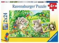 Sweet Koalas and Pandas (Twin pack) (RB07820-2), a 24 piece Ravensburger jigsaw puzzle.