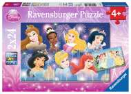 Disney The Princesses Gathering (Twin pack) (RB08872-0), a 24 piece Ravensburger jigsaw puzzle.