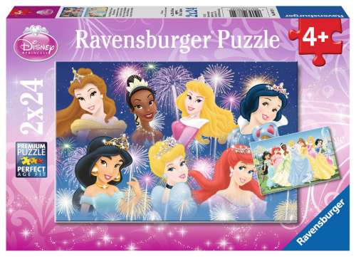 Disney The Princesses Gathering (Twin pack) (RB08872-0), a 24 piece jigsaw puzzle by Ravensburger. Click to view larger image.