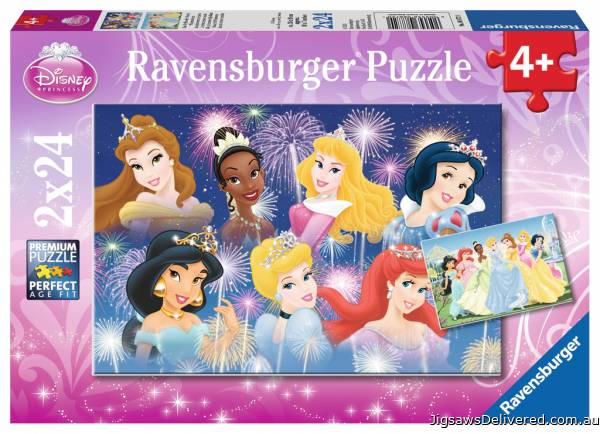 Disney The Princesses Gathering (Twin pack) (RB08872-0), a 24 piece jigsaw puzzle by Ravensburger.