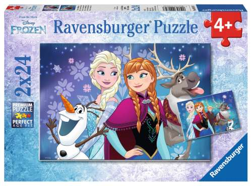 Disney Northern Lights (Twin pack) (RB09074-7), a 24 piece jigsaw puzzle by Ravensburger. Click to view larger image.