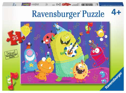 Giggly Goblins (RB08619-1), a 35 piece jigsaw puzzle by Ravensburger. Click to view larger image.