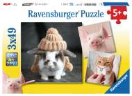 Funny Animal Portraits (Triple pack) (RB08028-1), a 49 piece Ravensburger jigsaw puzzle.