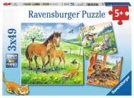 Cuddle Time (Triple pack) (RB08029-8), a 49 piece Ravensburger jigsaw puzzle.