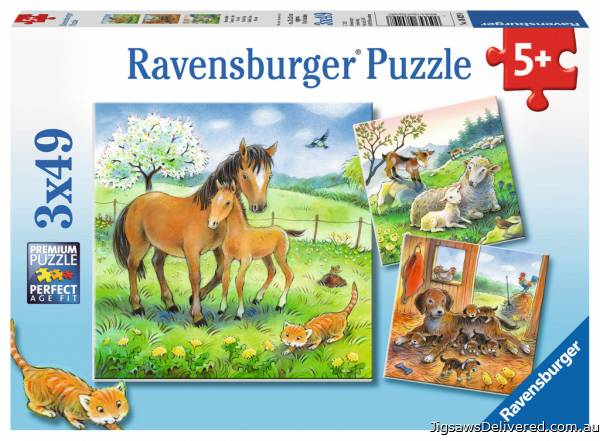 Cuddle Time (Triple pack) (RB08029-8), a 49 piece jigsaw puzzle by Ravensburger.